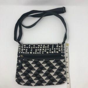 Small black/white purse